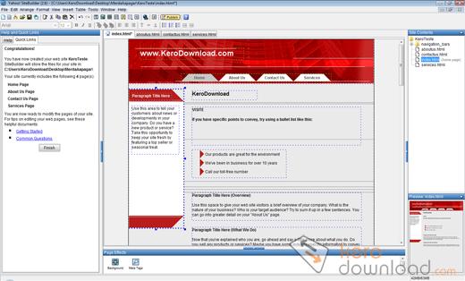 Yahoo sitebuilder download 2 6 for Yahoo sitebuilder templates