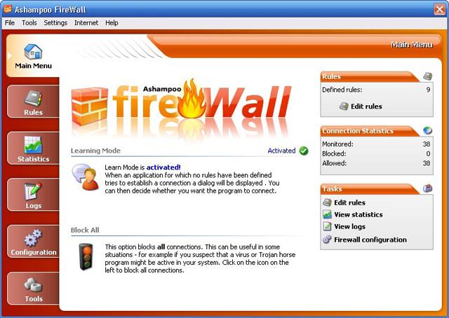 ashampoo firewall: