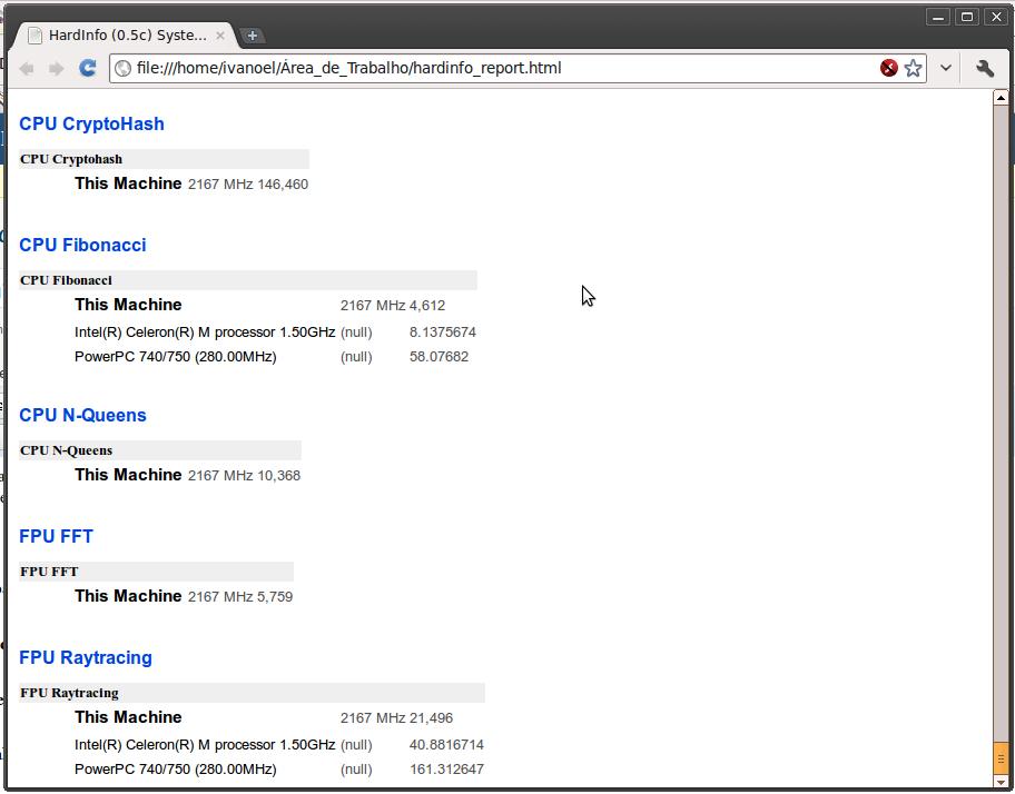 Hardinfo HTML Report