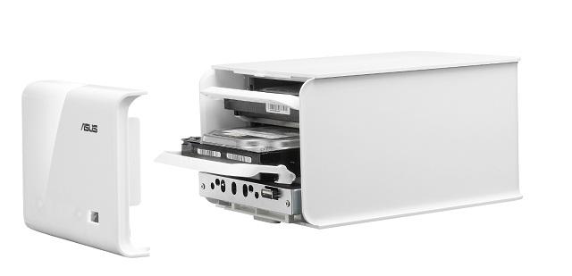 NAS-M25, backup de 4TB onde cabem mais de 2.000.000 MP3s ASUS-PR-NAS-M25-front-open