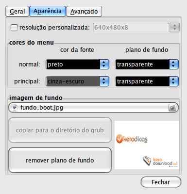 Grub Customizer - configurações-1