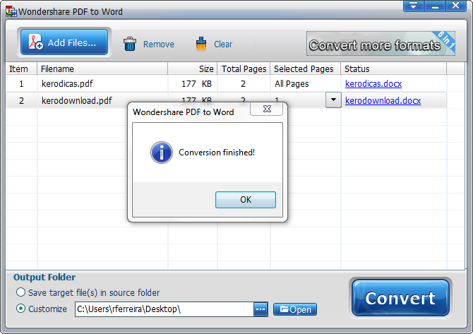 Wondershare PDF to Word Converter Free_4