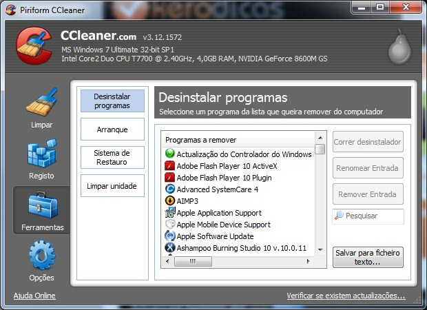 CCleaner 3.12.1572