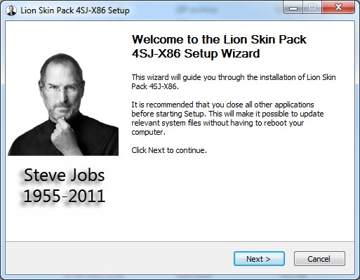 Lion Skin Pack Steve Jobs