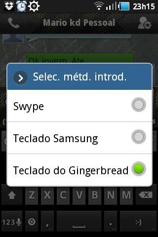 Samsung Galaxy Gio Interface 10