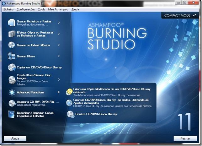 Ashampoo Burning Studio 11 Anvançadas