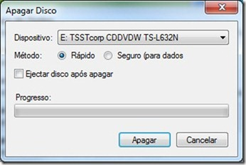 CDBurnerXP Apagar