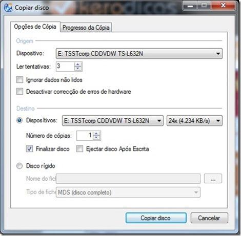 CDBurnerXP Copia