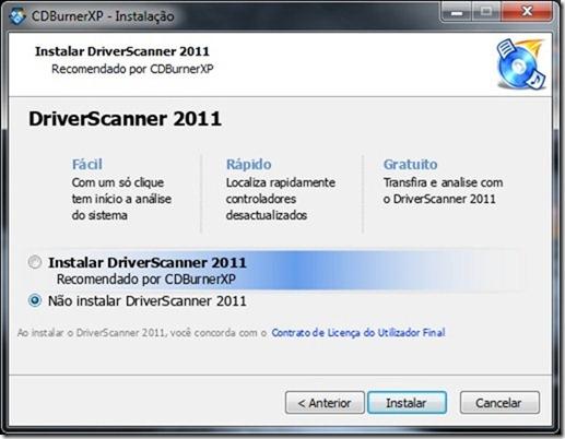 CDBurnerXP Instalação