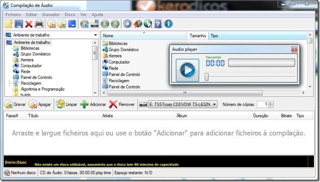 CDBurnerXP Música