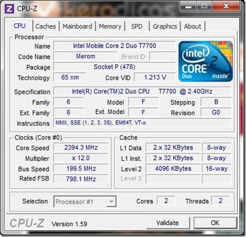 CPU-Z 1.59 CPU