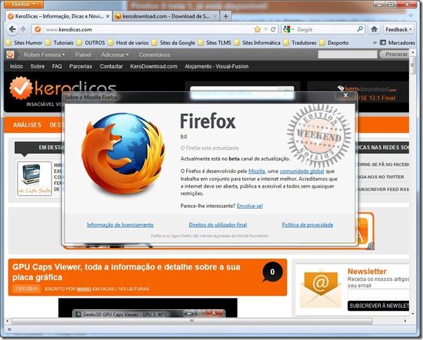 Firefox 9 Beta 1