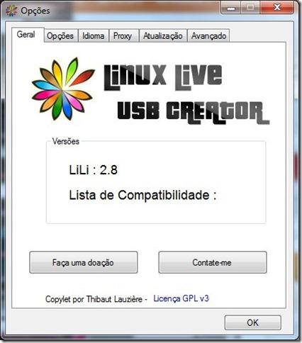 Linux Live USB Creator 2.8.7 Preferências