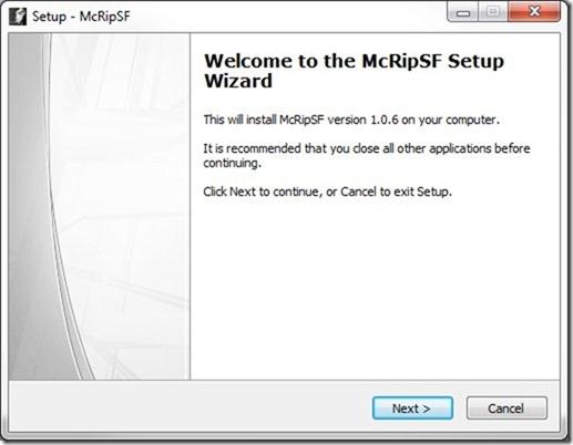 McRip SystemFiles Inicio