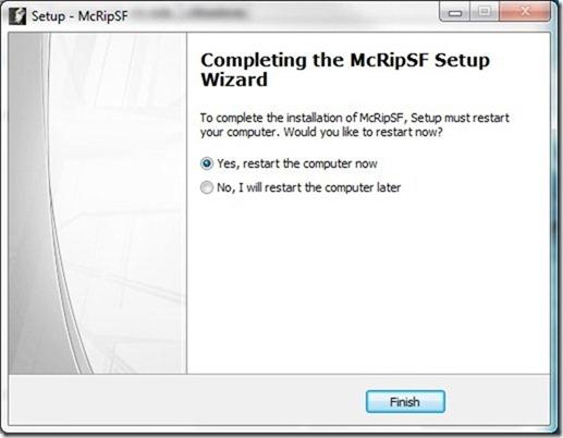 McRip SystemFiles Restart