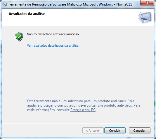 Microsoft Malicious Software Removal Tool 4.2 Concluido