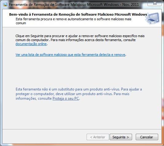 Microsoft Malicious Software Removal Tool 4.2 inicio