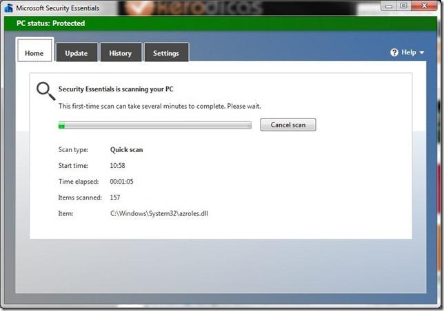 Microsoft Security Essentials Pesquisa