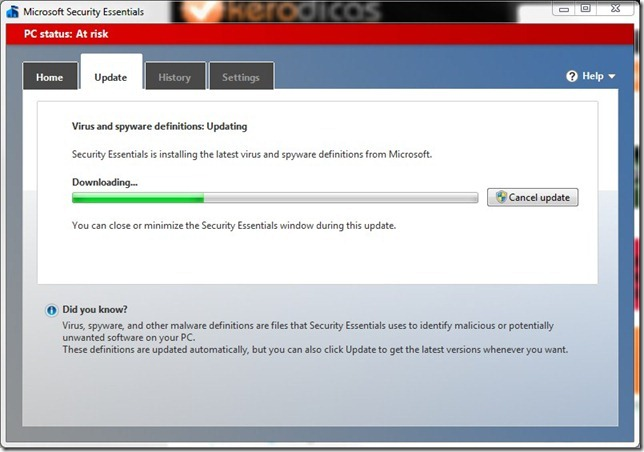 Microsoft Security Essentials Update