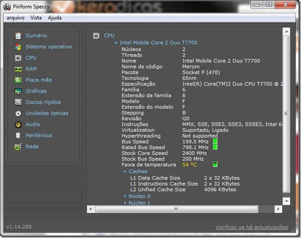 Speccy CPU