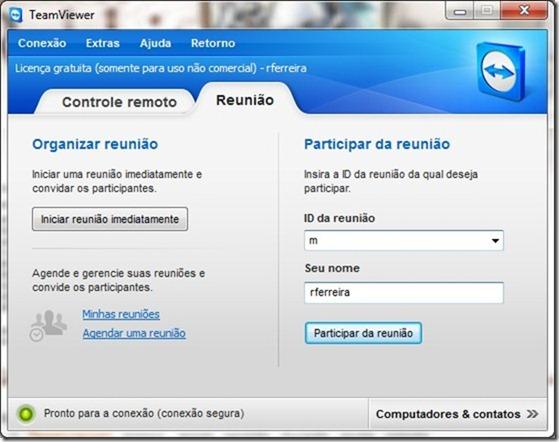 TeamViewer 7 Reuniao