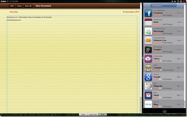 iPadian Notas