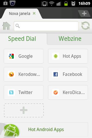 Dolphin HD Speed Dial
