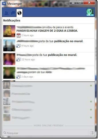 Facebook Messenger Notificações