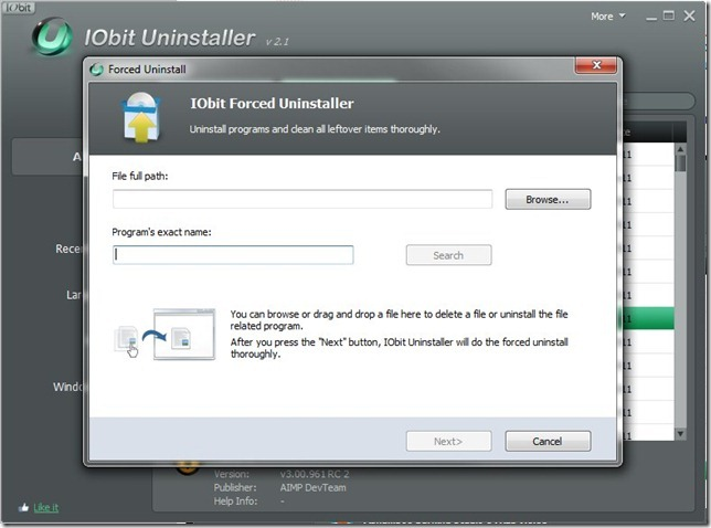IObit Uninstaller 2.1 Forced