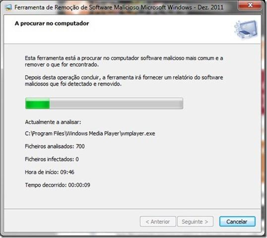 Microsoft Malicious Software Removal Tool 4.3 Verificação