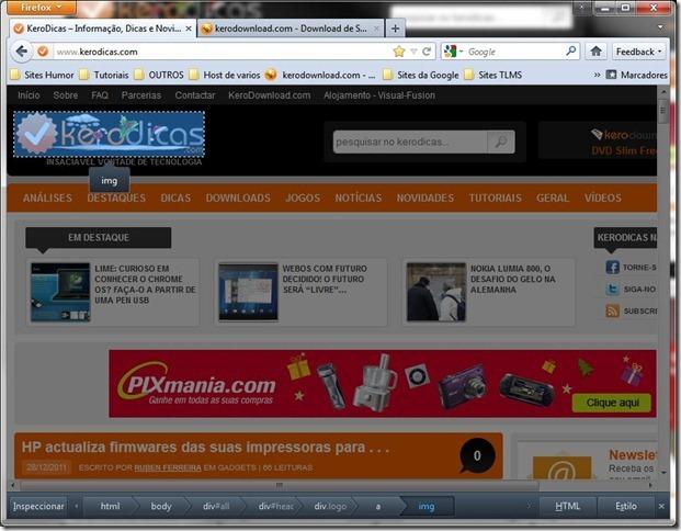 Mozilla Firefox 10 beta1 Inspeccionar