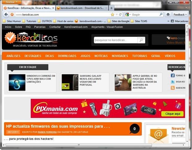 Mozilla Firefox 10 beta1