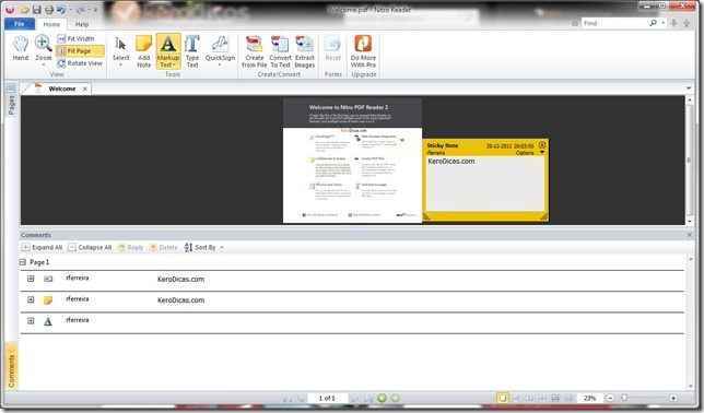 Nitro PDF Reader Comentarios