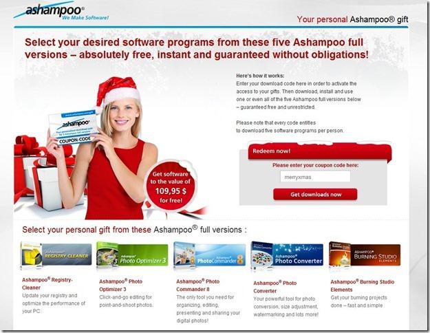 Oferta Ashampoo Página