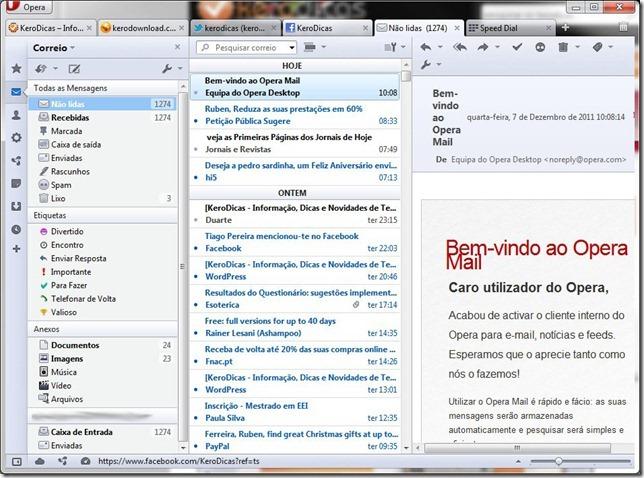 Opera 11.60 Opera Mail