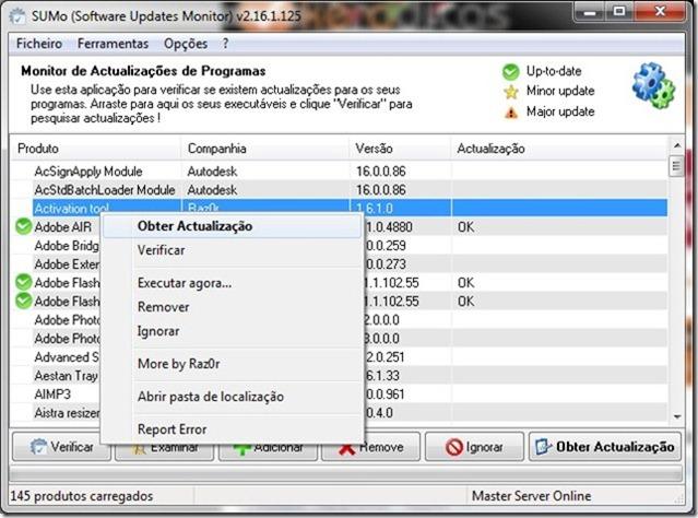 SUMo 2.16.1.125 Obter Actualização