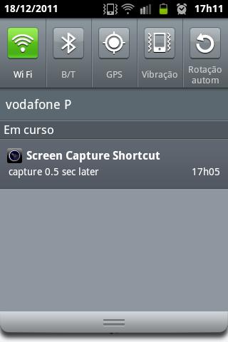 Screen Capture Shortcut Notificação