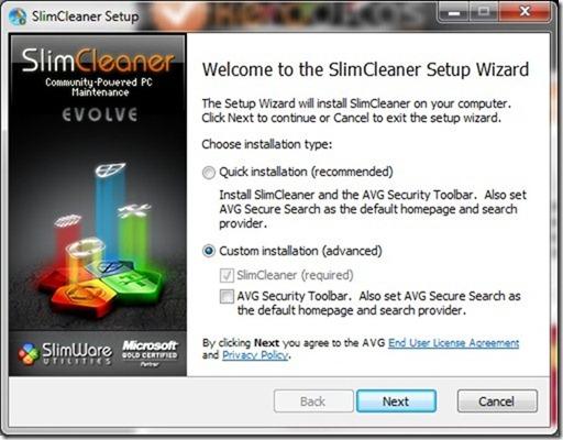 SlimCleaner 1.9   Instalação