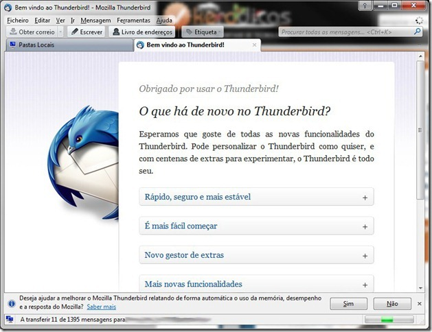 ThunderBird Inicio