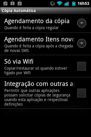 Backup SMS + Copia Automática