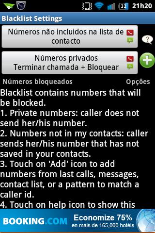 Blacklist funções