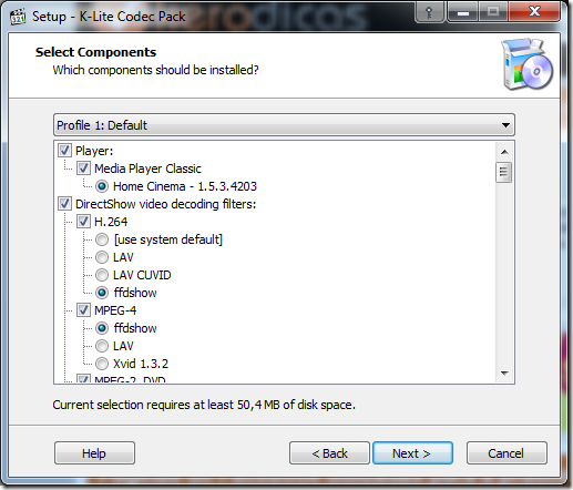 K-Lite Codec Pack Full Codecs