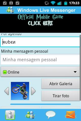 Messenger WithYou Configuração Inicial