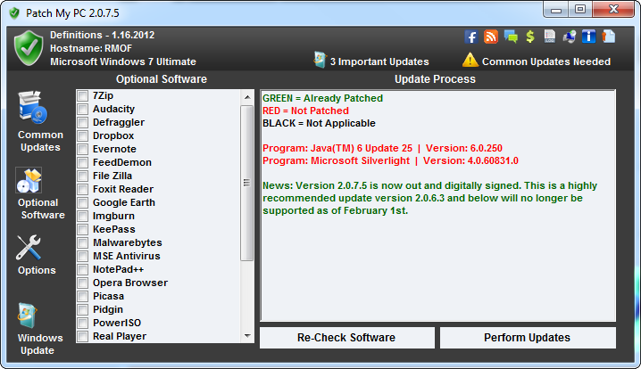 Patch My PC 2.0.7.5 Optional Software