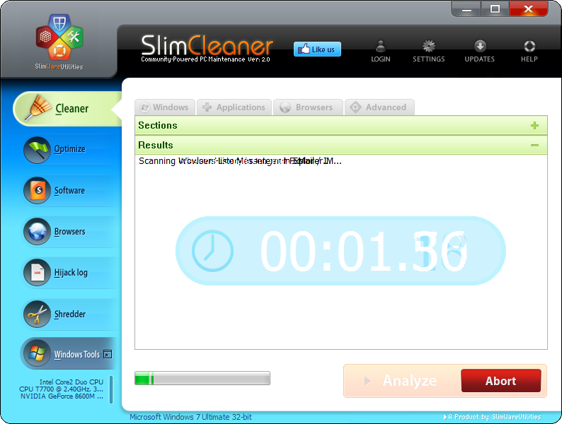SlimCleaner Analisar