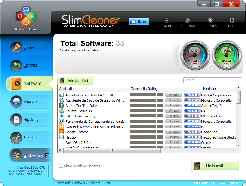 SlimCleaner Software
