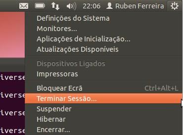 Terminar Sessão Ubuntu 11.10