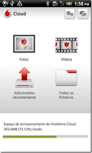 Vodafone Cloud Menu