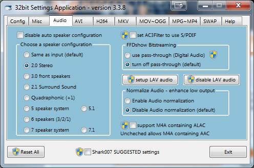 Win7Codecs Audio