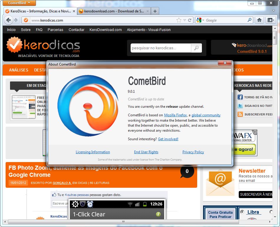 cometBird 9.0